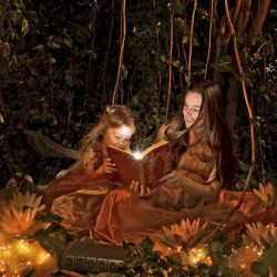 children_girls_forest_reading_book_fairy_tale__123989