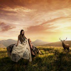 girl_landscape_antelope__114528