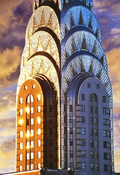 Chrysler Building Top by Mitchell