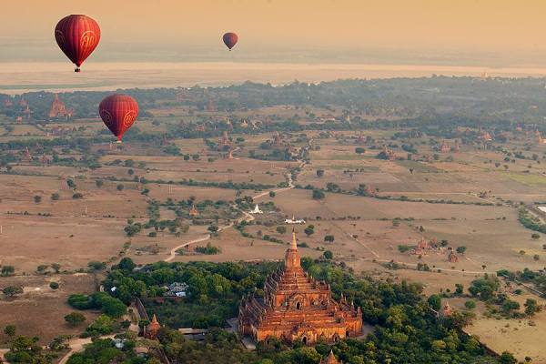 Bird Eye View Bagan by Suchet