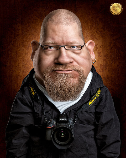 Photograph Petri Damsten Self Caricature on One Eyeland
