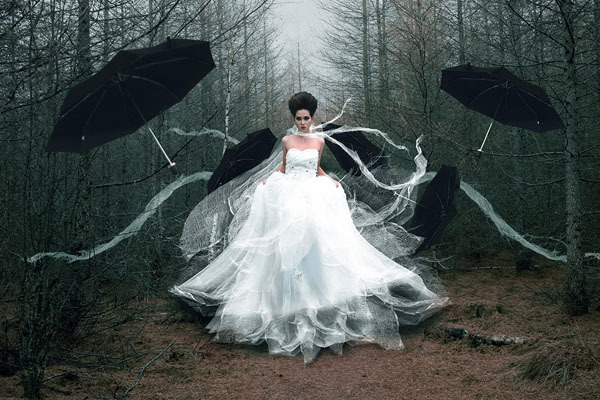 Photograph Yudiecesi Cesi The Black Umbrella on One Eyeland