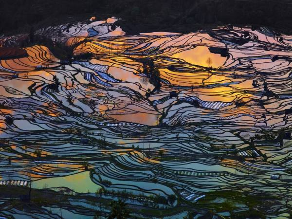 Photograph Thierry Bornier Sunset At Yuanyang on One Eyeland