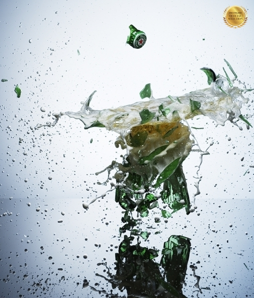 Photograph Jonathan Knowles Exploding Bottle on One Eyeland