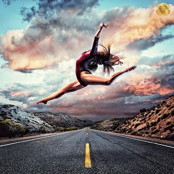 Photograph Blair Bunting Female Gymnast on One Eyeland