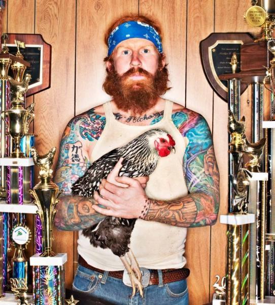 Photograph Steve Williams Chicken Man on One Eyeland