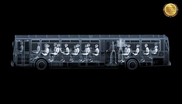 Photograph Nick Veasey Bus on One Eyeland
