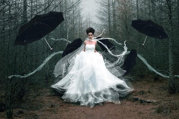 Photograph Yudiecesi Cesi The Black Umbrella on One Eyeland