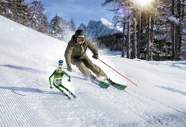 Photograph Paolo Cecchin Ski on One Eyeland