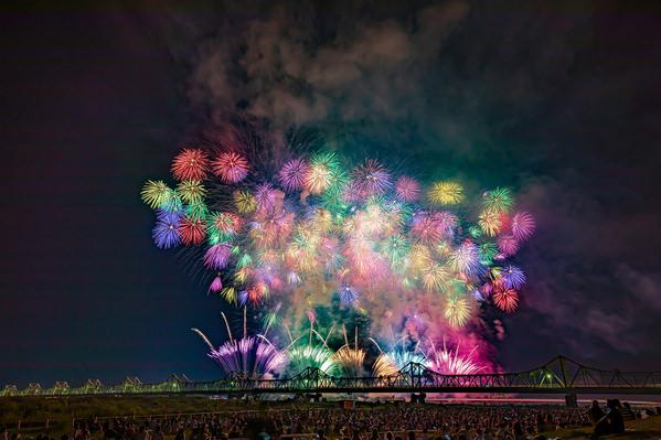 Photograph Setsuna Kurouzu Nagaoka Fireworks on One Eyeland