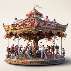 Carrousel-Surachai Puthikulangkura-bronze-CGI ARTIST-CGI Artist-502