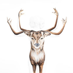 Reindeer Christmas-Jonathan Knowles-silver-ADVERTISING-Self-Promotion -1541