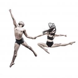 Aerial tango-Robert Houser-bronze-PEOPLE-Other -1612