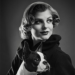 Woman with dog-Ramiro Cueva-finalist-FINE ART-Portrait -2008