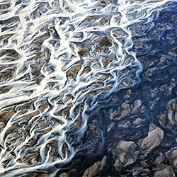 Abstract Iceland-Franco Cappellari-silver-NATURE-Aerial -3122