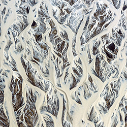 Glacial river pattern-Franco Cappellari-silver-FINE ART-Abstract -3817