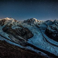 Monte Rosa sparkling night-Peter Svoboda-bronze-FINE ART-Landscape -3256