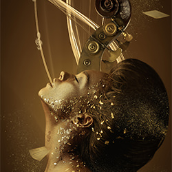 Gold Devotion-Priscilla Vezzit Ferreira-finalist-FINE ART-Collage -5540