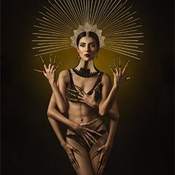 Sonnentempel Eidechse-Ivan Duran-Bronze-FEINE KUNST-Porträt -5333