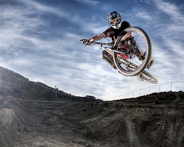 Photograph Brian Bailey Mountain Bike Air on One Eyeland