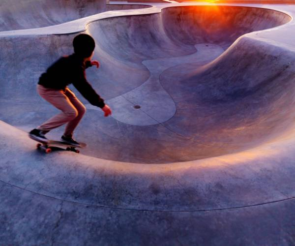 Photograph Jens Lucking Sunset Skater on One Eyeland