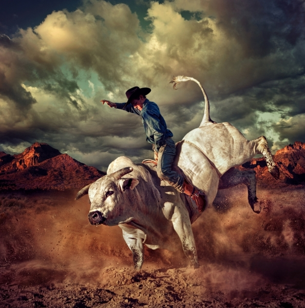 Photograph Chris Clor The Bull Rider on One Eyeland