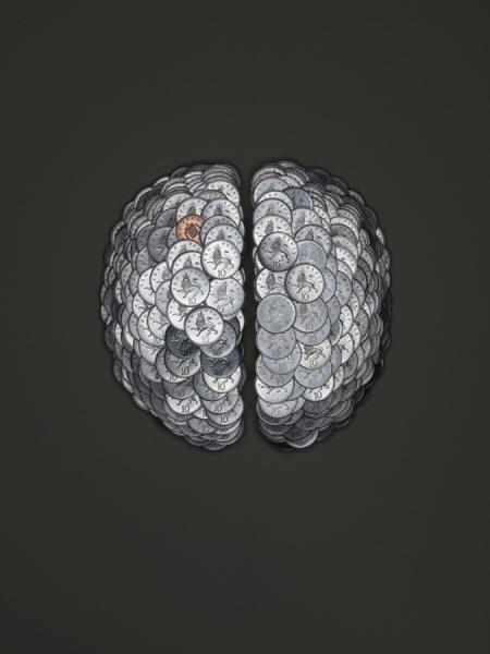 Photograph Jonathan Knowles Coin Brain on One Eyeland