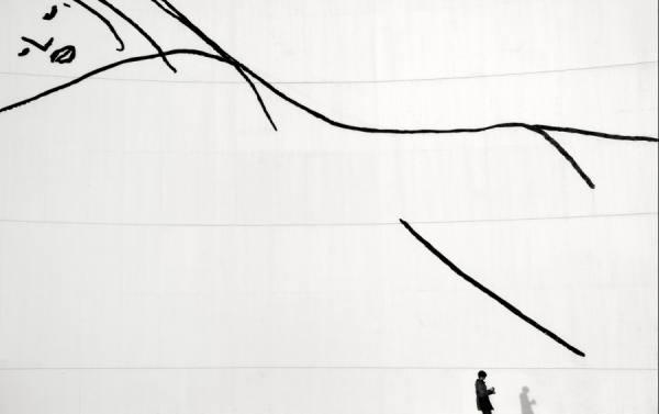 Photograph Ramon Vaquero Niemeyer Center Figures on One Eyeland