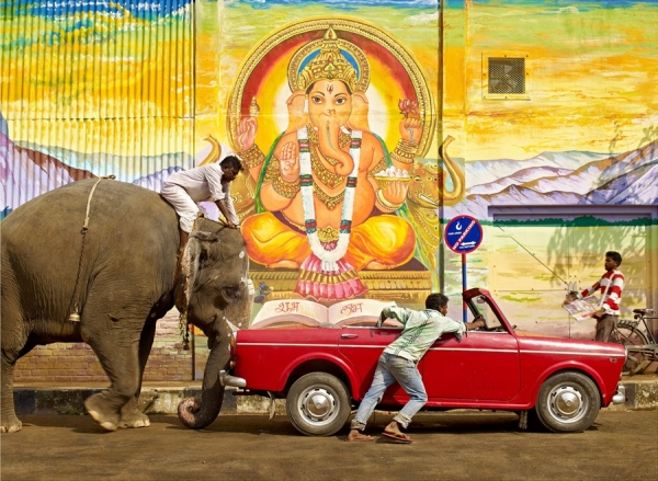 Photograph Sharad Haksar Divine Irony Ganesh on One Eyeland