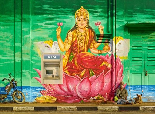 Photograph Sharad Haksar Divine Irony Lakshmi on One Eyeland