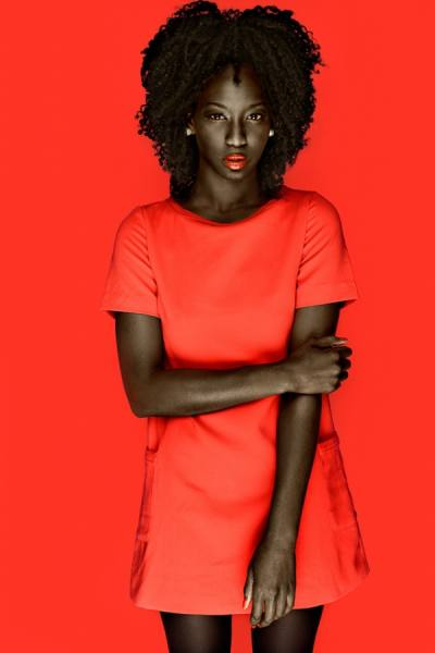 Photograph Ramon Vaquero Red Dress on One Eyeland