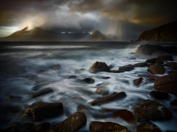 Photograph Julian Calverley Cuillins From Elgol on One Eyeland