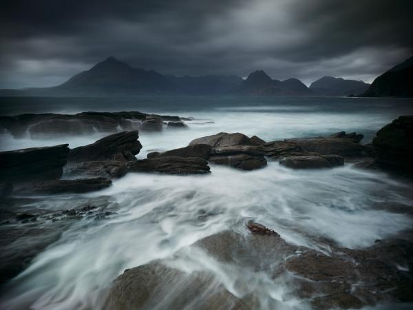 Photograph Julian Calverley Elgol Winter Storm on One Eyeland