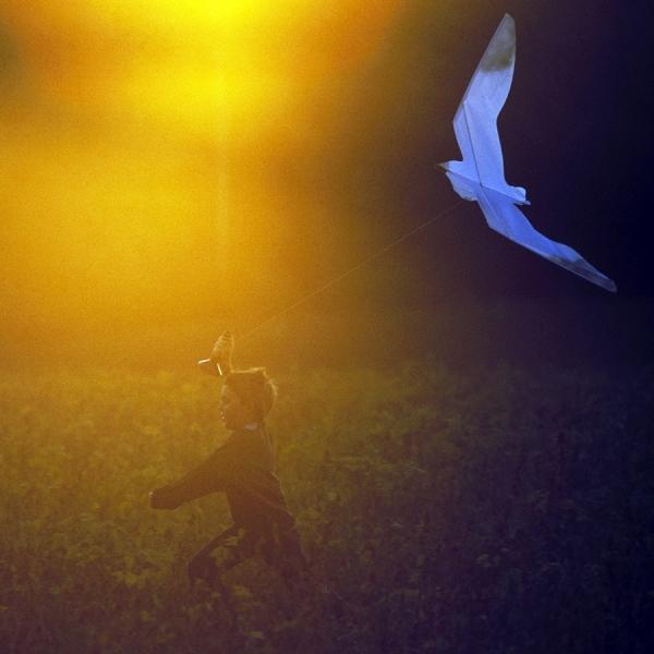 Photograph Chip Henderson Boy With Kite on One Eyeland