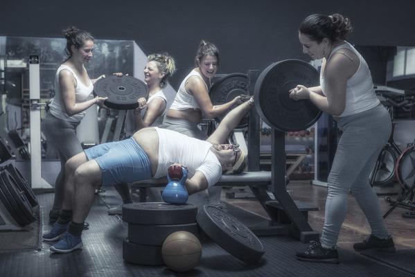 Photograph Ben Welsh Gym Humor 2 on One Eyeland