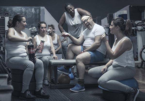 Photograph Ben Welsh Gym Humor 3 on One Eyeland