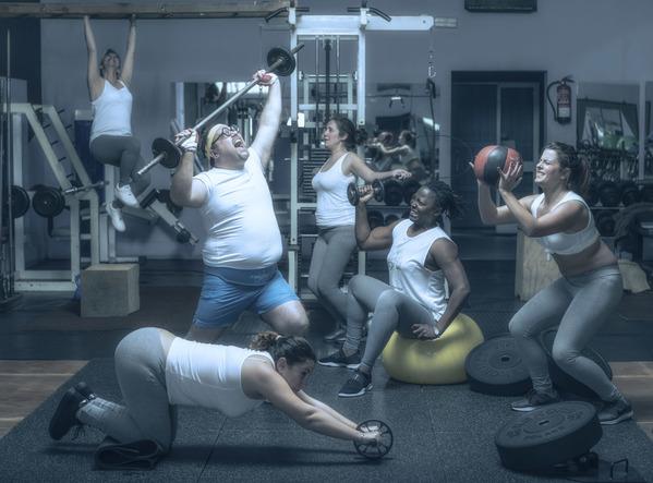 Photograph Ben Welsh Gym Humor 4 on One Eyeland