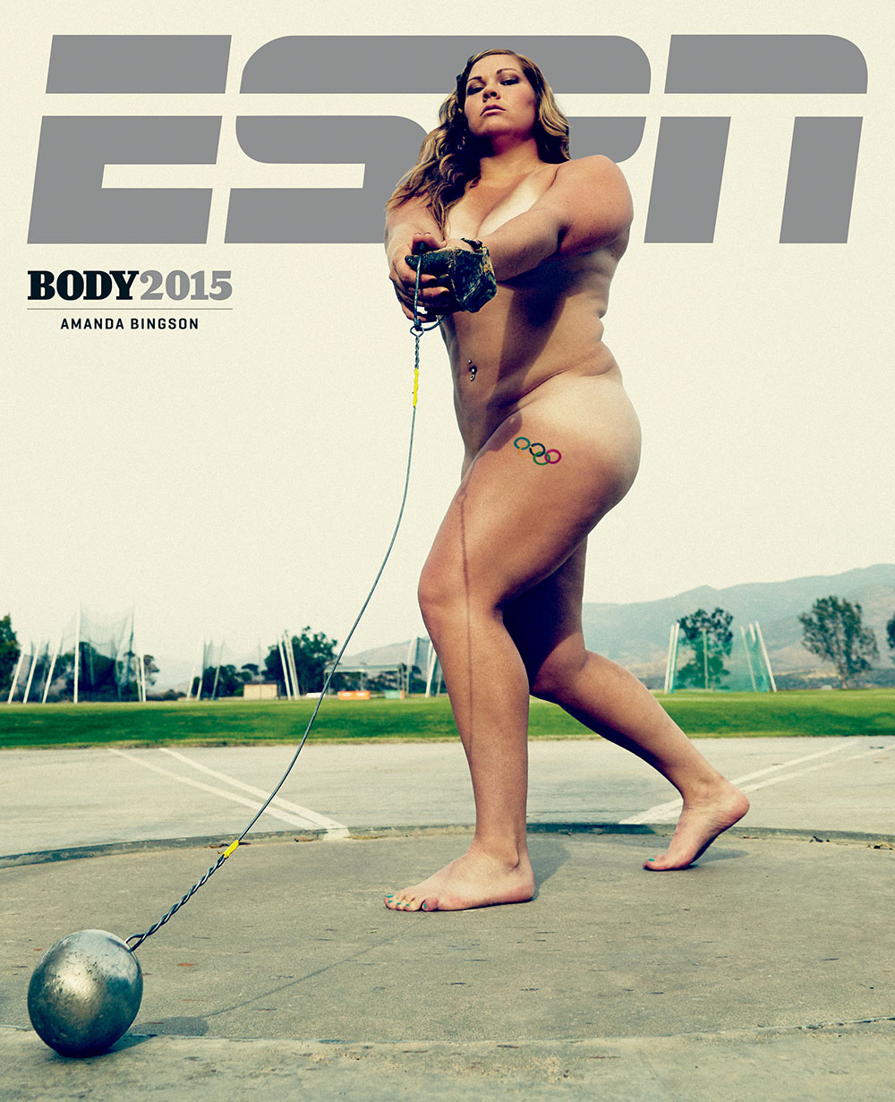Photography News - Stunning sporty nudes by ESPN Amanda Bingson photographed by Peter Hapak