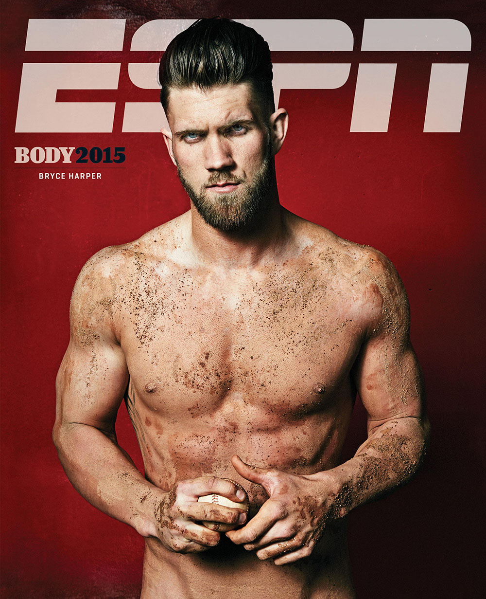 Photography News - Stunning sporty nudes by ESPN Bryce Harper photographed by Peter Hapak