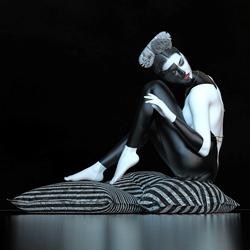 Streifen 2020-Patrizia Burra-bronze-black_and_white-4302