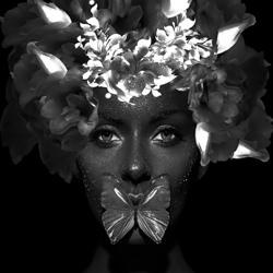 Beings Of Light-Priscilla Vezzit Ferreira-bronze-black_and_white-4308