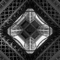 the Eiffel Tower-Yoshiaki Nakane-gold-black_and_white-6573