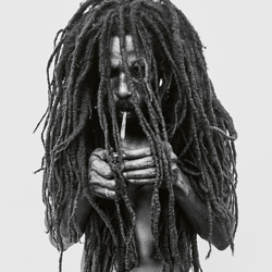 Rastafarian Smoking A Joint, Jamaica-Donald Graham-bronze-black_and_white-6409