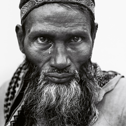 Indian Man with a Tear, Delhi, India-Donald Graham-finalist-black_and_white-6532