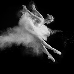 Ballerina in Action-Ang Michael Sidharta-silver-black_and_white-6604