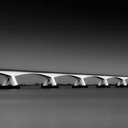 The Zeeland Bridge-Rob Bekker-finalist-black_and_white-6509