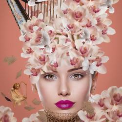 My Music Of Dreams Woman Harp-Priscilla Vezzit Ferreira-finalist-fine_art-4143
