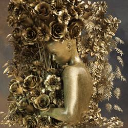 Fast menschlich-Patrizia Burra-gold-fine_art-4252