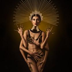 Tempel der Sonne Eidechse-Ivan Duran-Bronze-fine_art-4068