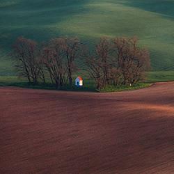 Chapel in the fields-Peter Svoboda-bronze-landscape-373